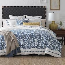 white blue floral bedding collection