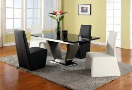 Black Modern Dining Room Sets Emejing Modern Dining Room Tables Italian Contemporary