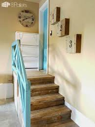 Staircase Makeover Ideas Garage Stairs Makeover With Pallets U2022 1001 Pallets