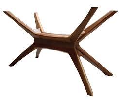 walnut dining table base mid century modern walnut dining table base solid walnut