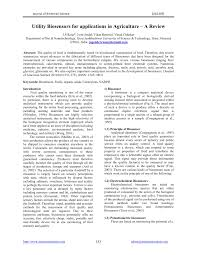 utility biosensors for applications in agriculture u2013a review