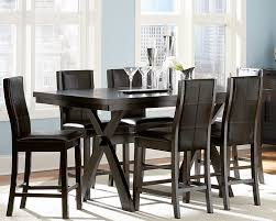 high dining room table and chairs modern counter height dining table room black set with 6 ege sushi