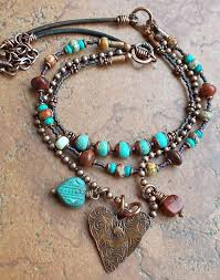 heart bead necklace images Heart beaded necklace images jpg