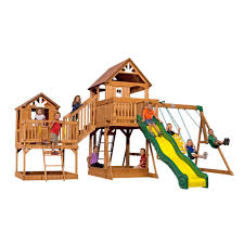 malibu wooden swing set playsets backyard discovery