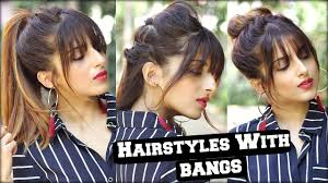 hairstyles with fringe bangs 1 min everyday hairstyles with fringe bangs 2017 for school