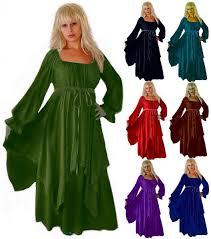 ruffle sleeve peasant renaissance layered dress