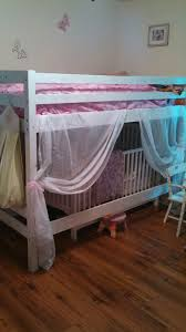 Loft Bed With Crib Underneath Toddler Bunk Bed With Crib Underneath Turned Princess Bed