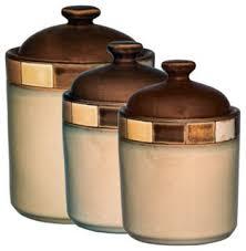 contemporary kitchen canisters casa estebana 3 piece canister set contemporary kitchen