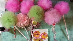 Pom Trees Tulle Pom Pom Wands Aka Truffula Trees Youtube