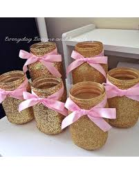gold baby shower decorations savings on 6 jars pink gold baby shower ideas baby shower
