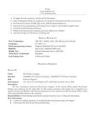 Manual Testing 2 Years Experience Resume Sample Resume Of Net Developer Net Experience Resume Sample Sample