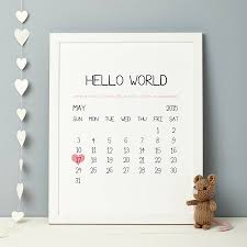personalize baby gifts personalised baby birth date print by thispaperbook