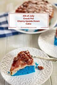 crock pot cherry upside down cake flour on my face