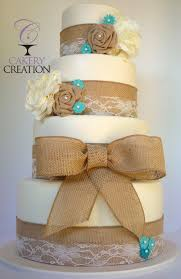 burlap wedding ideas lace and burlap wedding cake