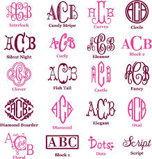 monograms embroidery monograms fonts and cricut