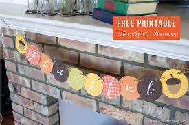 free printable thankful banner
