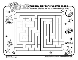 kabongo galaxygardens maze printable activity page 532839