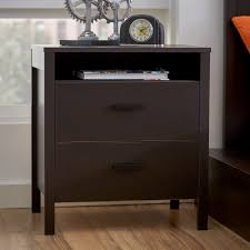 nightstand solid wood nightstand traditional cherry finish solid