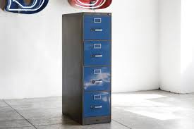 Vertical Filing Cabinet by Sold Vintage File Cabinet On Casters Refinished In Navy Blue