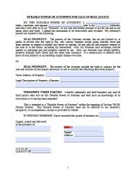 Sample Special Power Of Attorney Authorization by Florida General Financial Power Of Attorney Form Power Of