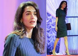 is amal clooney hair one length amal clooney proves yet again why she s our workwear hero