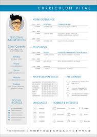 free modern cv resume design template for graphic designers