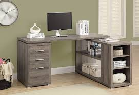 Reclaimed Wood Executive Desk Amazon Com Monarch Specialties Hollow Core Left Or Right Facing