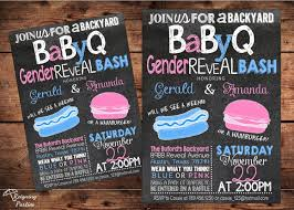 bbq gender reveal invitation events baby shower pinterest