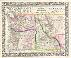 A Map Of Oregon by File 1866 Mitchell Map Of Washington Oregon Idaho And Montana