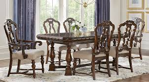 7 pc dining room set court brown 7 pc dining room dining room sets wood