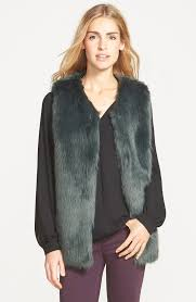laundry by design hooded jacket laundry by design faux fur vest 138 the best faux fur