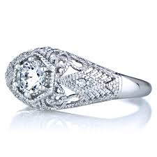 vintage style engagement rings 0 5 ct cz and silvertone vintage style wedding ring