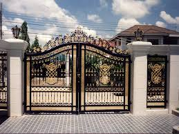 Metal Arbor With Gate Wrought Iron Garden Arbor And Gate Combination
