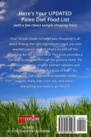 updated paleo diet food list book rachel hathaway 9781499611984