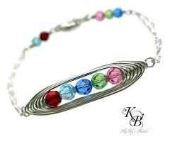 mothers day birthstone jewelry mothers birthstone bracelet mothers jewelry peapod bracelet wire
