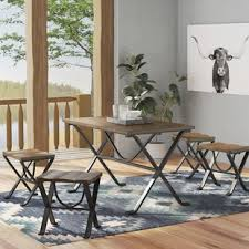 combined kitchen and dining room metal kitchen dining room sets you ll love wayfair