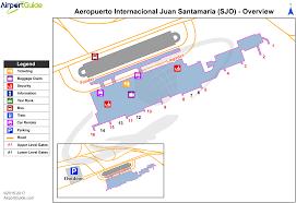 san jose airport on map san jose juan santamaria international sjo airport terminal