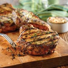 grilled pork chops with basil garlic rub pork recipes pork be
