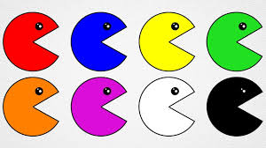 learn colors with pacman coloring pages for kids to learn