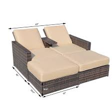 Wicker Patio Lounge Chairs 01 0608 Outsunny Outdoor 3pc Pe Rattan Wicker Patio Loveseat