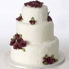 wedding cake kit classic burgundy cake kit grocery store wedding cakes
