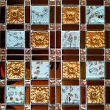 Wholesale Glass Mosaic Tile Squares Red Rose Pattern 304 by Iridescent Bathroom Tiles Backsplash Wall Art Beveled Mirror Glass