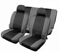nissan micra seat covers xtremeauto 9 piece car seat cover set black grey includes seat