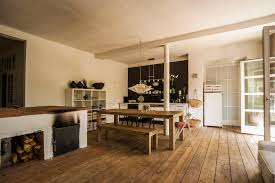 Rustic Wide Plank Flooring Gorgeous Kitchens With Wooden Flooring