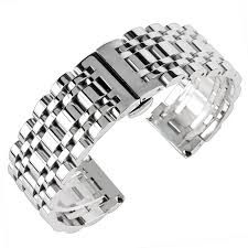 stainless silver bracelet images Watchband 20mm 22mm 24mm stainless steel watch band strap men jpg
