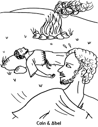 cain and abel coloring page cain and abel coloring pages free