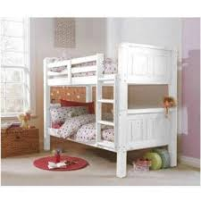 Cloudseller FT SOLID WHITE BUNK BED IN WHITE FINISH SPLIT INTO - Solid pine bunk bed