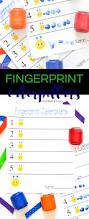 fingerprint caterpillars craft typically simple