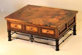Tuscan Coffee Table Tuscan Coffee Table Copper And Reclaimed Wood Coffee Tables Tuscan
