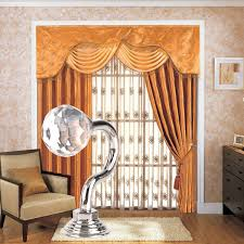 2 pair crystal glass round ball end tie back hooks for curtain